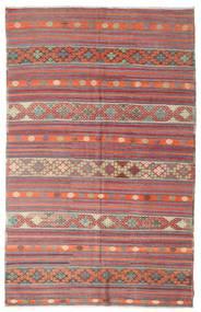 Chilim Semi-Antic Turcia Covor 195X306 Orientale Lucrate De Mână Roşu Închis/Bej (Lână, Turcia)