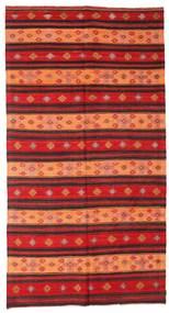 Chilim Semi-Antic Turcia Covor 186X352 Orientale Lucrate De Mână Ruginiu/Roșu-Închis/Portocaliu (Lână, Turcia)