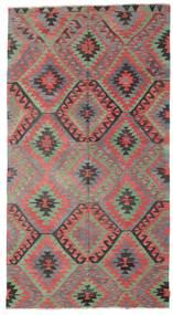 Kelim Semiantiikki Turkki Matto 177X326 Itämainen Käsinkudottu Tummanharmaa/Vaaleanruskea (Villa, Turkki)