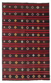 Kelim Halbantik Türkei Teppich  179X295 Echter Orientalischer Handgewebter Schwartz/Dunkelrot (Wolle, Türkei)