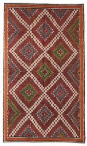 Kelim Halbantik Türkei Teppich  200X340 Echter Orientalischer Handgewebter Dunkelrot/Dunkelbraun (Wolle, Türkei)