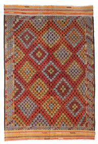 Kelim Halbantik Türkei Teppich  190X282 Echter Orientalischer Handgewebter Dunkelrot/Dunkelbraun (Wolle, Türkei)
