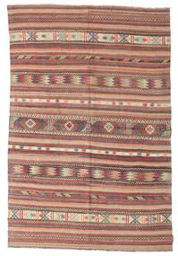 Kilim semi antique Turkish rug XCGZK1039