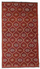 Kelim Semi-Antiek Turkije Vloerkleed 157X276 Echt Oosters Handgeweven Donkerrood/Lichtbruin (Wol, Turkije)