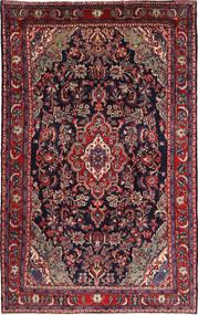 Hamadan Shahrbaf Matta 215X335 Äkta Orientalisk Handknuten Mörkröd/Mörkblå (Ull, Persien/Iran)