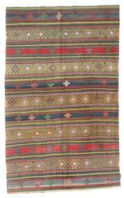 Kilim Semi Antique Turkish Rug 175X286 Authentic  Oriental Handwoven Dark Grey/Dark Red (Wool, Turkey)