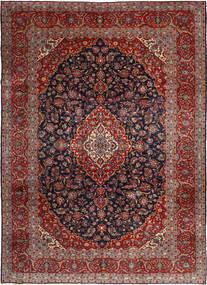 Keshan Rug 255X360 Authentic  Oriental Handknotted Dark Red/Black Large (Wool, Persia/Iran)
