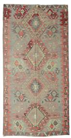 Kilim Semi Antique Turkish Rug 170X334 Authentic  Oriental Handwoven Light Brown/Brown (Wool, Turkey)