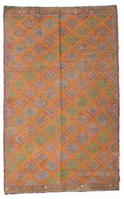 Kilim Semi Antique Turkish Rug 194X310 Authentic  Oriental Handwoven Light Brown/Brown (Wool, Turkey)