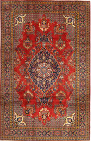 Mahal Rug 220X342 Authentic  Oriental Handknotted Dark Purple/Dark Red (Wool, Persia/Iran)