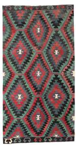 Kilim Semi Antique Turkish Rug 174X330 Authentic  Oriental Handwoven Dark Grey/Black (Wool, Turkey)