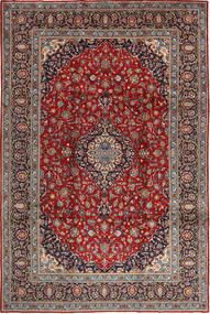 Keshan Rug 250X377 Authentic  Oriental Handknotted Brown/Light Brown Large (Wool, Persia/Iran)