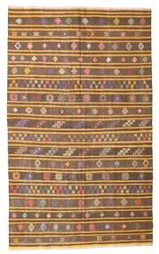 Kelim Halvt Antikke Tyrkiske Teppe 165X270 Ekte Orientalsk Håndvevd Brun/Lysbrun (Ull, Tyrkia)