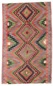 Kilim Semi Antique Turkish Rug 194X314 Authentic  Oriental Handwoven Dark Grey/Brown (Wool, Turkey)