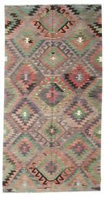 Kilim Pół -Antyk Tureckie Dywan 163X310 Orientalny Tkany Ręcznie Ciemnoszary/Ciemnobrązowy (Wełna, Turcja)