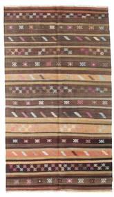 Kelim Halvt Antikke Tyrkiske Teppe 166X290 Ekte Orientalsk Håndvevd Mørk Rød/Mørk Brun (Ull, Tyrkia)