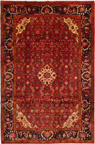 Hosseinabad Rug 205X310 Authentic  Oriental Handknotted Dark Red/Rust Red (Wool, Persia/Iran)