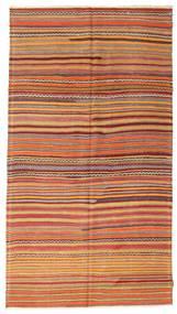 Kelim Halvt Antikke Tyrkiske Teppe 163X295 Ekte Orientalsk Håndvevd Lysbrun/Rød (Ull, Tyrkia)