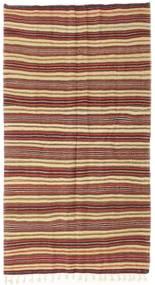 Kelim Halbantik Türkei Teppich  150X278 Echter Orientalischer Handgewebter Dunkelbraun/Hellbraun (Wolle, Türkei)