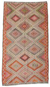 Kilim Semi Antique Turkish Rug 170X307 Authentic  Oriental Handwoven Dark Red/Light Grey (Wool, Turkey)