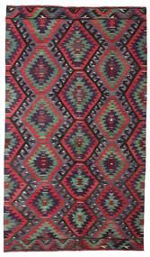 Kelim Semiantiikki Turkki Matto 178X306 Itämainen Käsinkudottu Tummanvioletti/Tummanharmaa/Tummanvihreä (Villa, Turkki)