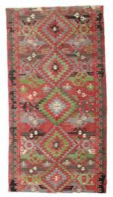 Kelim Halbantik Türkei Teppich  170X316 Echter Orientalischer Handgewebter Dunkelrot/Olivgrün (Wolle, Türkei)