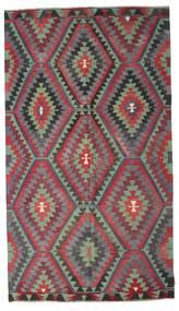 Kilim Pół -Antyk Tureckie Dywan 171X303 Orientalny Tkany Ręcznie Ciemnoszary/Ciemnofioletowy (Wełna, Turcja)