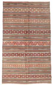 Kelim Semiantiikki Turkki Matto 159X264 Itämainen Käsinkudottu Vaaleanruskea/Tummanruskea (Villa, Turkki)