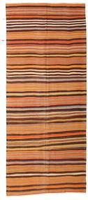 Kilim Semi Antique Turkish Rug 172X410 Authentic  Oriental Handwoven Hallway Runner  Light Brown/Dark Red (Wool, Turkey)