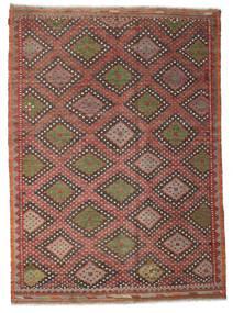 Kilim Semi-Antichi Turchi Tappeto 206X284 Orientale Tessuto A Mano Rosso Scuro/Marrone Scuro (Lana, Turchia)
