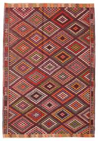 Kilim semi antique Turkish rug XCGZK730