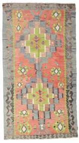 Kilim Semi Antique Turkish Rug 157X290 Authentic  Oriental Handwoven Dark Grey/Light Grey (Wool, Turkey)