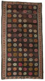 Kilim Semi Antique Turkish Rug 177X320 Authentic Oriental Handwoven Black/Dark Red (Wool, Turkey)
