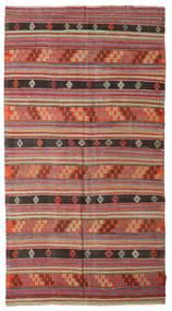Kelim Halbantik Türkei Teppich  163X302 Echter Orientalischer Handgewebter Dunkelrot (Wolle, Türkei)