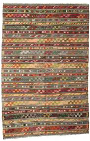 Kilim semi antique Turkish carpet XCGZK682