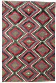 Chilim Semi-Antic Turcia Covor 192X297 Orientale Lucrate De Mână Gri Închis/Roșu-Închis (Lână, Turcia)