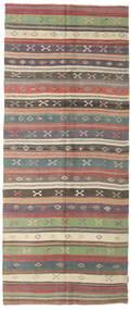 Kilim Semi-Antique Turquie Tapis 133X318 D'orient Tissé À La Main Tapis Couloir Gris Foncé/Gris Clair (Laine, Turquie)