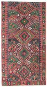 Kilim Semi Antique Turkish Rug 170X322 Authentic  Oriental Handwoven Brown/Dark Brown (Wool, Turkey)