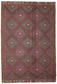 Kilim Semi Antique Turkish Rug 206X307 Authentic  Oriental Handwoven Dark Red/Dark Grey (Wool, Turkey)