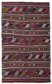 Kilim Semi Antique Turkish Rug 140X230 Authentic Oriental Handwoven Dark Green/Dark Brown (Wool, Turkey)