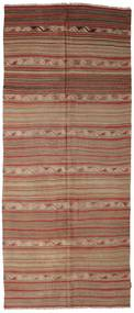 Kilim Semi Antique Turkish Rug 141X340 Authentic  Oriental Handwoven Hallway Runner  Light Brown/Brown (Wool, Turkey)