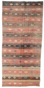 Kilim Semi Antique Turkish Rug 152X340 Authentic  Oriental Handwoven Hallway Runner  Light Brown/Light Pink (Wool, Turkey)