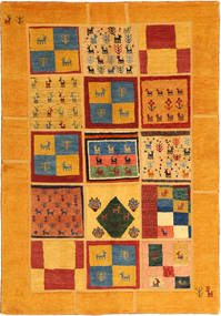 Gabbeh Persia Matto 136X200 Moderni Käsinsolmittu Oranssi/Vaaleanruskea (Villa, Persia/Iran)