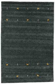 Gabbeh Loom Two Lines - Dark Grey/Green Rug 190X290 Modern Black (Wool, India)