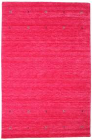 Gabbeh Loom Two Lines - Cerise Rug 190X290 Modern Pink (Wool, India)