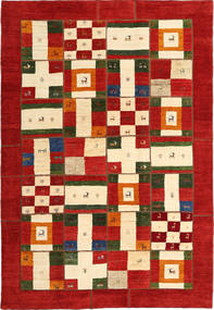 Gabbes Persia Patchwork Rug 206X300 Authentic  Modern Handknotted Rust Red/Beige (Wool, Persia/Iran)
