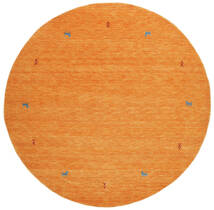 Gabbeh Loom Two Lines - Orange Rug Ø 200 Modern Round Orange (Wool, India)