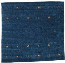 Gabbeh Loom Two Lines - Dark Blue Rug 200X200 Modern Square Dark Blue (Wool, India)