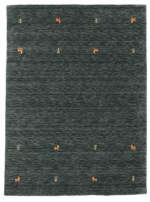 Gabbeh loom Two Lines - Dark Grey / Green rug CVD15089
