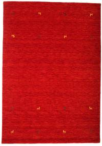 Gabbeh loom Two Lines - Rust Red rug CVD15011